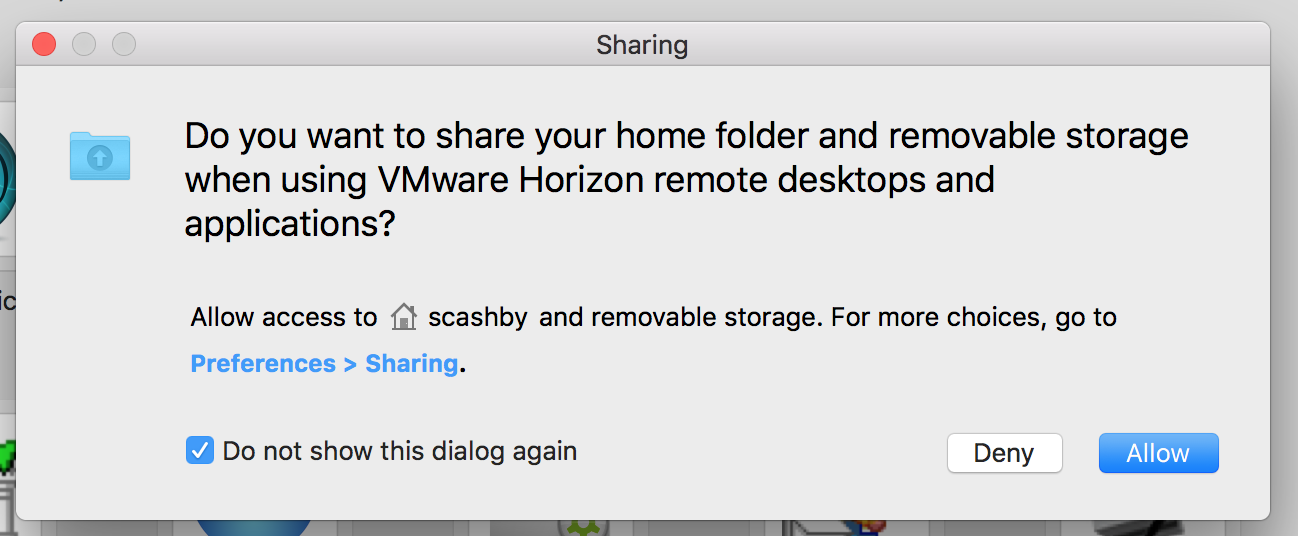 allow sharing window mac